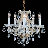 Crystorama 4405 Maria Theresa 20 inch crystal chandelier in antique brass finish