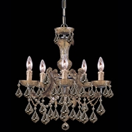 Crystorama 4476 Maria Theresa 20 inch crystal chandelier in antique brass finish