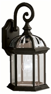 Kichler 9735BK Barrie Outdoor Traditional 1 Light Black Lantern Wall Sconce