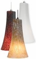 LBL Indulgent 12.8  Tall Glass Contemporary Pendant Hanging Light