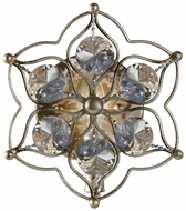 Feiss WB1585-BUS Leila Burnished Silver 9 Inch Tall Crystal Decorative Wall Sconce