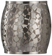 Feiss WB1589-BS Zara Modern Brushed Steel 8 Inch Tall Wall Lamp