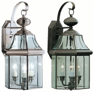 Kichler 9785 Embassy Row Traditional Outdoor 21 Inch Tall Large 3 Light Lantern Wall Sconce