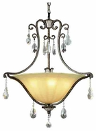 Trans Globe 3967 Crystal Fair Traditional Pendant Light