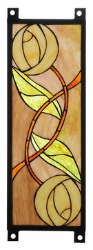 Meyda Tiffany 110925 Mackintosh Rose 17 Inch Tall Stained Glass Wall Décor