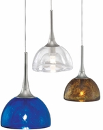 LBL HS266 Sophia with Long Satin Nickel Accent Halogen Mini Pendant