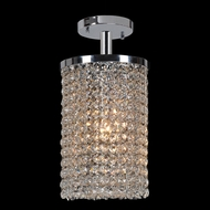 Worldwide W33743C6 Prism Small 6 Inch Diameter Crystal Semi Flush Lighting Fixture