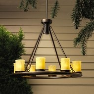 Kichler 15402oz Oak Trail Low-Voltage Outdoor Chandelier