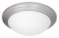 Access 20651-BS Strata 14 Inch Diameter Flush Mount Brushed Steel Ceiling Light