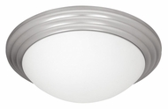 Access 20652-BS Strata 16 Inch Diameter Brushed Steel Flush Mount Lighting