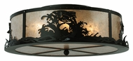 Meyda Tiffany 113622 Leaping Trout 22 Inch Diameter Flush Mount Ceiling Light - Silver Mica