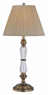 Lite Source LSEL-30036 Cavallo Antique Brass 15 Inch Diameter Traditional Table Lamp