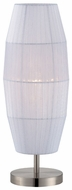 Lite Source LS21270PS-WHT Parvati Contemporary Organza Table Lamp