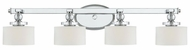 Quoizel DW8604C Downtown Glass Shade 33 Inch Long Vanity Light With Chrome Finish