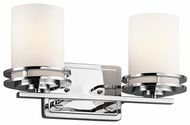 Kichler 5077CH Hendrik Small 2-lamp Contemporary Bathroom Vanity Light Fixture
