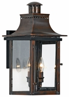 Quoizel CM8410AC Chalmers Traditional Medium 10 Inch Diameter Copper Lantern Exterior Wall Light Sconce