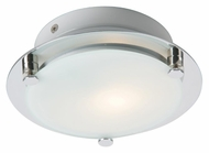 ET2 E20533-09 Piccolo 7 Inch Diameter Satin Nickel Circle Contemporary Semi Flush Mount Light Fixture