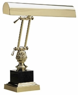 House of Troy P14246 P14-246 Polished Brass & Black Marble Piano Lamp