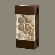 Fine Art Lamps 810850-14 Crystal Bakehouse Small Modern Crystal River Stone Lighting Wall Sconce - Bronze