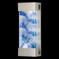 Fine Art Lamps 810950-22 Crystal Bakehouse Medium Silver Finish Wall Sconce Light Fixture - Blue Crystal
