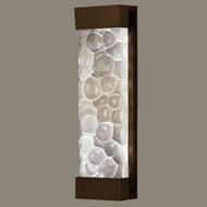Fine Art Lamps 811050-14 Crystal Bakehouse 24 Inch Tall Bronze Modern Large Light Sconce - River Stones