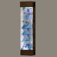 Fine Art Lamps 811150-12 Crystal Bakehouse Extra Large 30 Inch Tall Blue Crystal Bronze Sconce Lighting