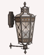 Fine Art Lamps 403681 Chateau 37 inch outdoor wall sconce in solid brass