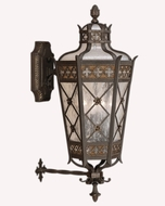 Fine Art Lamps 403481 Chateau 32 inch outdoor wall sconce in solid brass