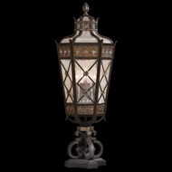 Fine Art Lamps 403983 Chateau 35 inch outdoor pier mount light in solid brass