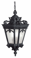 Kichler 9855BKT Tournai Small 24 Inch Diameter 3 Lamp Textured Black Outdoor Drop Lighting