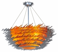 Meyda Tiffany 108459 Electric Sunset Chrome Finish 39 Inch Diameter Modern Ceiling Light
