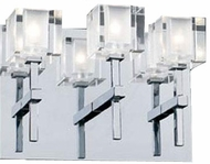 PLC 36654-PC D'oro Contemporary 3 Light Vanity / Wall Fixture in Polished Chrome