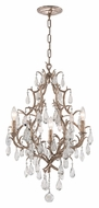 Corbett 163-03 Amadeus Small Crystal Candle Chandelier 30 Inch Tall