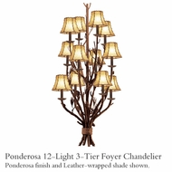 Kalco 5033 Ponderosa 12-Light 3-Tier Foyer Light