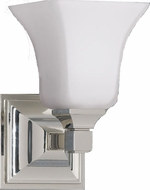 Feiss VS12401PN American Foursquare 1 Light Opal and Nickel Wall Sconce Lighting Fixture