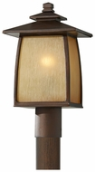 Feiss OL8508-SBR Wright House Large Sorrel Brown 16 Inch Tall Lamp Post Light Fixture