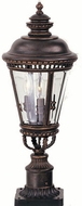 Feiss OL1907-GBZ Castle 3-light 22.25 inch Outdoor Post Lamp in Grecian Bronze
