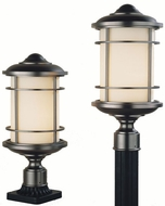 Feiss OL2207-BB Lighthouse 1-light 18 inch Exterior Post Light in Burnished Bronze