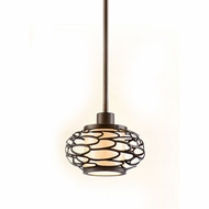 Corbett 79-41 Cesto 5 Inch Tall Modern Bronze Mini Pendant Lighting