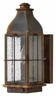 Hinkley 2040SN Bingham 12 Inch Tall Sienna Finish Traditional Small Outdoor Wall Lighting