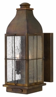 Hinkley 2044SN Bingham Medium 16 Inch Tall Sienna Finish Antique Lantern Exterior Wall Lamp