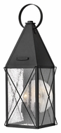 Hinkley 1844BK York 21 Inch Tall Traditional Black Finish Medium Exterior Sconce
