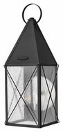 Hinkley 1845BK York Black Finish 25 Inch Tall Traditional Lantern Outdoor Lighting Sconce - Large
