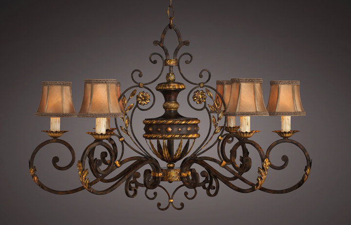 Fine art lamps 218540 castile wrought iron and gold old world oblong fine art lamps 218540 castile wrought iron and gold old world oblong chandelier loading zoom aloadofball Images