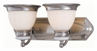 Lite Source LS16422PS/FRO Carter Polished Steel 2 Lamp Vanity Lighting For Bathroom - 18 Inches Wide