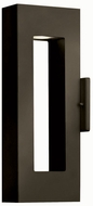 Hinkley 1640BZ Atlantis 2 Light 16 Inch Contemporary Outdoor Halogen Wall Sconce in Bronze
