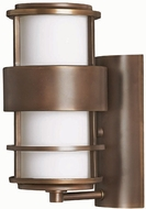 Hinkley 1900MT Saturn 1 Light 12 Inch Contemporary Outdoor Wall Sconce in Metro Bronze