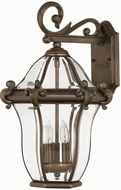 Hinkley 2444CB San Clemente 3 Light 21 Inch Outdoor Wall Sconce in Copper Bronze