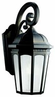 Kichler 11012RZ Courtyard Medium Bronze Finish Traditional 22 Inch Tall Outdoor Wall Lighting