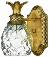 Hinkley 5310BB Plantation Brass Tropical One Light Light Wall Sconce